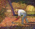 Peasant with a Hoe - Georges Seurat