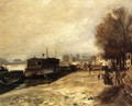 Laundry Boat by the Banks of the Seine, near Paris - Pierre Auguste Renoir