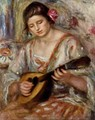 Girl with a Mandolin - Pierre Auguste Renoir