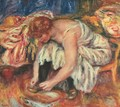 Woman Tying her shoes - Pierre Auguste Renoir