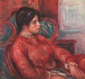 Woman in armchair - Pierre Auguste Renoir