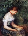 The Reader (Seated Young Woman) - Pierre Auguste Renoir