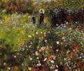 Summer Landscape (Woman with a Parasol in a Garden) - Pierre Auguste Renoir