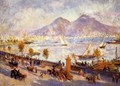 Mount Vesuvio in the Morning - Pierre Auguste Renoir