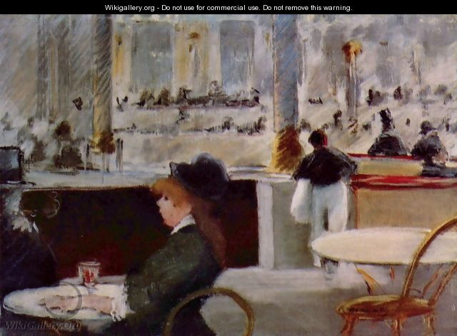 Interior of a Cafe - Edouard Manet