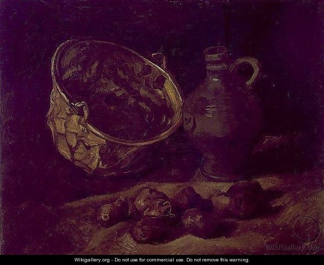 with Copper Kettle, Jar and Potatoes - Vincent Van Gogh