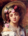 The Flower Girl - Alexei Alexeivich Harlamoff