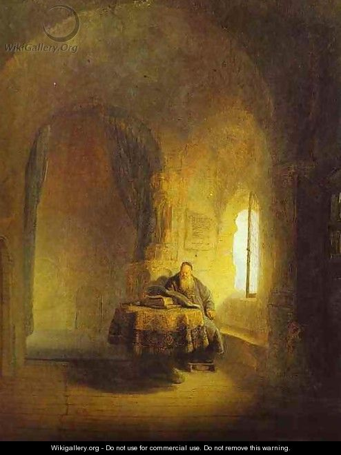 Philosopher Reading - Rembrandt Van Rijn