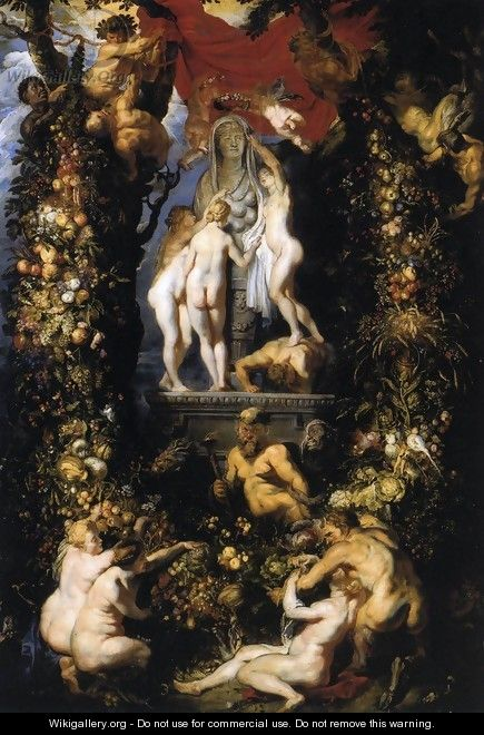 Nature Adorning the Three Graces - Peter Paul Rubens
