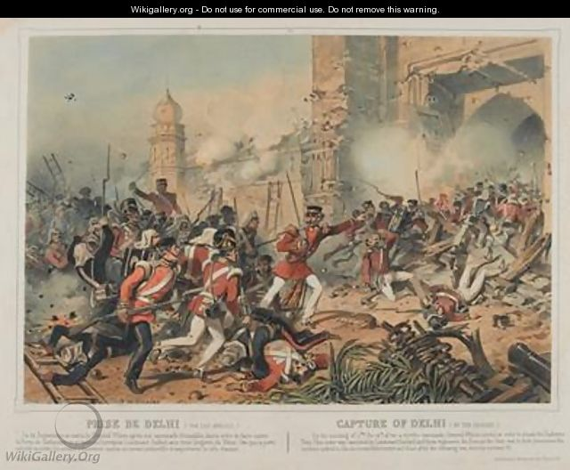 Capture of Delhi - Rene de Moraine