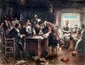The Signing of the Mayflower Compact 1900 - Edward Percy Moran