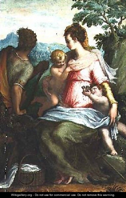 Madonna and Child with Saint John the Baptist - Francesco (Il Poppi) Morandini