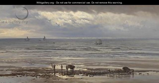 Kelp Gatherers - A Grey Morning 1874 - Henry Moore