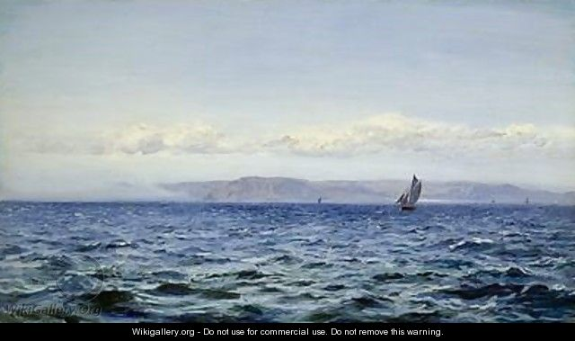 Light Breeze off Dodman at Mevagissey Cornwall 1881 - Henry Moore