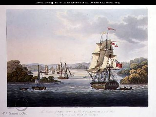 The Harbour of Port Cornwallis - (after) Moore, Joseph