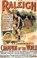 Poster advertising cycles Raleigh - T. Moore