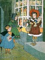 A Visit to the Toyshop page from an illustrated childrens book - A. E. Moore