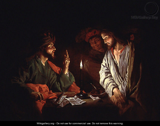 Christ before Caiaphus 1630-1650 - Matthias Stomer