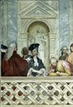 Group of seven notaries including one ecclesiastical figure - Michelangelo Morlaiter