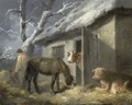 Winter Farmyard - George Morland