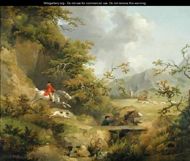 Foxhunting in Hilly Country - George Morland