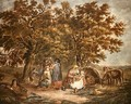 The Gipsies Tent - George Morland
