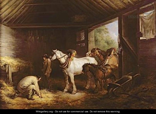 Inside a Stable - George Morland
