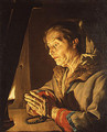 Old Woman Praying - Matthias Stomer