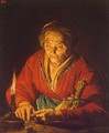 Old Woman with a Candle 1640-1650 - Matthias Stomer
