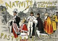Reproduction of a poster advertising a Nativity with songs and living pictures - Etienne Moreau-Nelaton