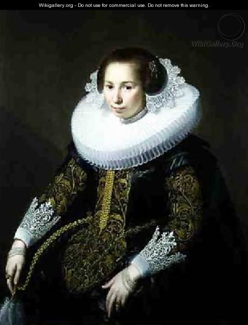 Portrait of Mrs van Voorst - Paulus Moreelse
