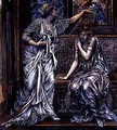 Finished study for Queen Eleanor and Fair Rosamund 1900-5 - Evelyn Pickering De Morgan