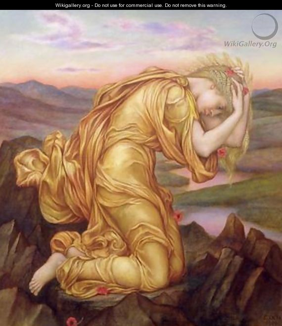 Demeter Mourning for Persephone 1906 - Evelyn Pickering De Morgan