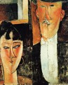 Bride and Groom (aka The Newlyweds) - Amedeo Modigliani