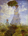 The Woman With The Parasol - Claude Oscar Monet