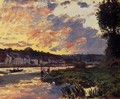 The Seine at Bougeval, Evening - Claude Oscar Monet
