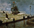 The Jetty at Le Havre in Rough Westher - Claude Oscar Monet