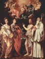 Marien's coronation with St. Catherine of Alexandria, St. John Evangelist, St. John the Baptist, St. Romuald of Cam - Guido Reni