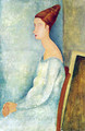 Portrait of Jeanne Hebuterne Seated in Profile - Amedeo Modigliani
