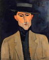Portrait of a Man with Hat (aka Jose Pacheco) - Amedeo Modigliani