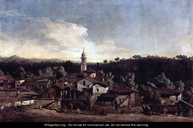 The village Gazzada view of the south (Vedute of Gazzada) - Bernardo Bellotto (Canaletto)