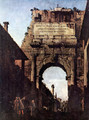 The Arch of Titus in Rome, prior to the restoration carried out by Valadier - Bernardo Bellotto (Canaletto)