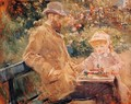 Eugene Manet and His Daughter at Bougival - Berthe Morisot