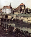 View of Dresden, The Fortress plants in Dresden, with a moat between Wilschen Gate Bridge and Post miles pil 2 - Bernardo Bellotto (Canaletto)