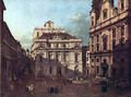 View from Vienna, square in front of the university, from southeast of view, with the large auditorium of th 2 - Bernardo Bellotto (Canaletto)