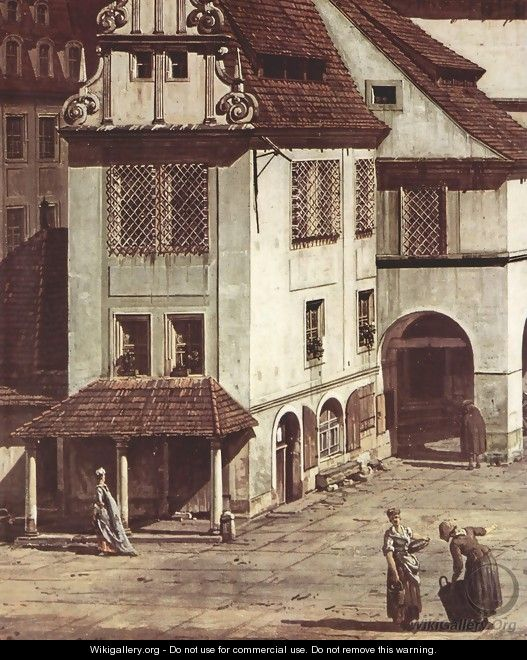 View from Pirna, the market square in Pirna, Detail - Bernardo Bellotto (Canaletto)