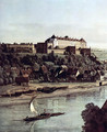 View from Pirna, Pirna of the vineyards at Posta, with Fortress Sonnenstein, Detail - Bernardo Bellotto (Canaletto)