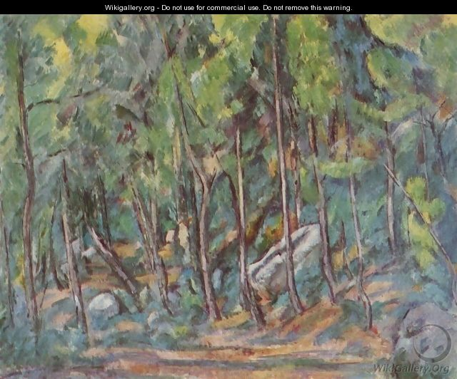 In the forest of Fontainebleau - Paul Cezanne