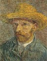 Self Portrait with Straw Hat 3 - Vincent Van Gogh