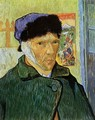 Self Portrait with Badaged Ear - Vincent Van Gogh